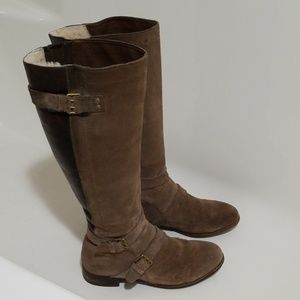 UGG Cyndee Leather Suede Tall Womens Boot 8